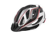 Cratoni Miuro Casque blanc-noir-rouge brillant